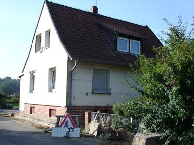 Haus vor den Verblendarbeiten