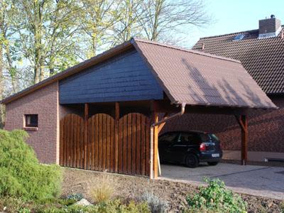 Anbau eines Carportes an ein Einfamilienhaus in Vechelde